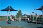 Playground equipment in Mary Virginia Crites Hannan Park